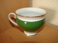 Kaffeetasse Königlich preussisch Tettau Palmgarten Dekor grün Goldrand Tasse