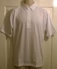 Da Uomo Premier Bianco Tinta Unita Casual Sport Polo T Shirt, dimensioni medie e grandi, NUOVO
