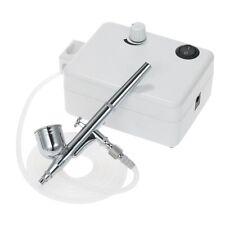 Mini Air Compressor Set Dual Action Airbrush Gravity Feed Air Brush Kit W1V4