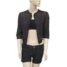 Isabel Marant Etoile Embroidered Front Open Black Shrug Blouse Top M 2 187567