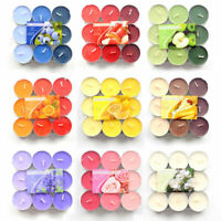 12 Scented Tealight Candles Choice of Fragrance Coloured Tea Light Aromatic UK