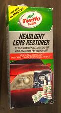 Turtle Wax Headlight Lens Cleaning Restoration Polish Restorer Kit - New NO PADS