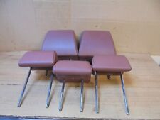 NISSAN QASHQAI 2007 SET OF 5 BROWN LEATHER LOOK HEADRESTS