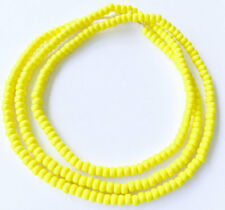 254 Nice Opaque matte yellow African glass seed beads Jewelry Supplies