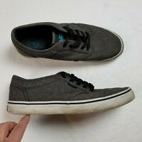 Vans Skateboarding Shoes Sneakers Mens 9.5 Gray White Low Top Laced 5000200