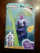 Fingerlings Purple Baby Sloth Marge New-in-Box WowWee