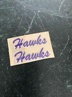 "Laurier University Canada Throwback Logo Mini HELMET DECAL SET Rare 3"" Hawks"