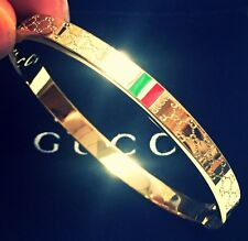 Gucci Women's Love Bangle Yellow Gold Size 16 cm Brand New
