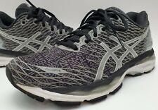 Asics Gel Nimbus 18 Women's Lite Show Black Gray Running Shoes Size 8.5  T6E5N