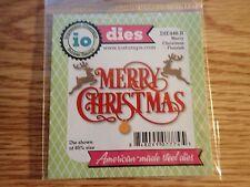 Impression Obsession Metal Scrapbooking Die Merry Christmas Flourish DIE446-R