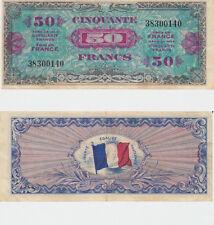 Billet du Trésor 50  FRANCS DRAPEAU  JUIN 1944 Sans série N° 38300140