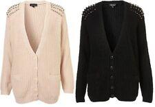 Topshop Patternless V Neck Cardigans for Women