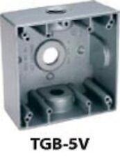 New Bwf Tgb-5V Weatherproof Metal 2 Gang Electrical Box New In Box Sale