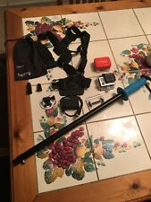 GoPro Hero3 Black, selfie stick, chest mount, extra case, charger