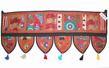 """Decorative Patchwork Window Door Valance Topper Wall Hanging Tapestry 39"""" Length"""