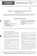 Grundig Service Manual für RT 100