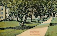 Warrensburg MO Nice Greenery Planter on Path @ Normal Campus So Entrance~c1910