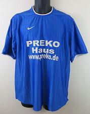 Para Hombre Nike 90s Camiseta De Fútbol Fútbol Jersey Azul Retro Trikot 42/44 L Grande
