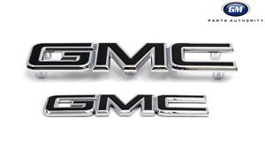 2018-2020 GMC Terrain Front & Rear Black Emblem Package 84416280 Black OEM GM
