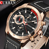 Montre Militaire Sport Homme Top MarQUE Quartz Bracelet Cuir MEN WATCH PROMO