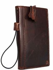 Genuine vintage Leather case for lg g4 book wallet slim cover brown thin retro R