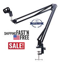 Studio Microphone Stand, Suspension Boom Scissor Arm Stand, Desktop Mic Holder