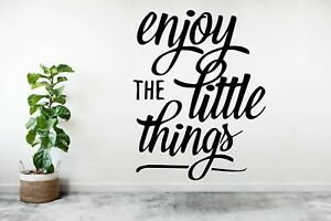Enjoy the little things | Wall sticker quote vinyl graphics sticker words