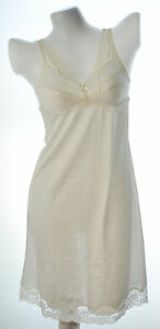 Ladies nylon full slip bra slip with lace no.131 with Ivory size 32A,32B