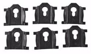 78-87 El Camino Caballero Rear Roof Molding Clips - Complete 6pc Kit