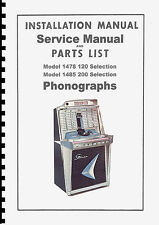 MANUALE COMPLETO (manual) JUKEBOX ROCK-OLA MODELS 1478 AND 1485 TEMPO 2 juke box