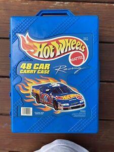 Hot Wheels 48 Car Blue Plastic Tara Carry Case Storage 1998