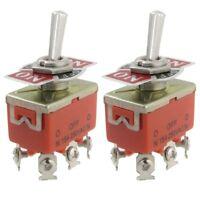 2 x AC 250V 15A 3 Positions DPDT Interrupteur bipolaire bidirectionnel a bascule