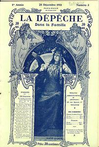 """Revue """"La Dépêche Dans la Famille"""" 25 Décembre 1901. 126 Gravures"""