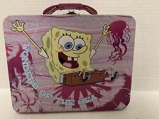 Spongebob SquarePants Lunch Box Pink Tin Wonders of the Sea