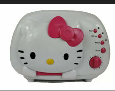 Hello Kitty 2 Slice Wide Slot toaster Kt5211 - Lightly Used Very Clean 2012