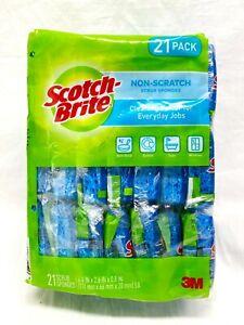 Scotch-Brite Non-Scratch Scrub Sponges 21 Pack - NEW