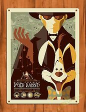 "Disney Tin ""Who Framed Roger Rabbit"" Art Ride Movie Cartoon Poster"