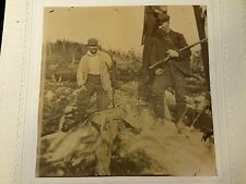 OCCUPATIONAL HUNTER DEER ELK SKIN ANIMAL GUN RIFLE MEN CABINET CARD PHOTO 1637