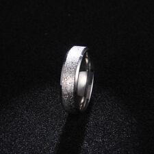 Edelstahl Frauen Ring Diamanten staub Schmuck Mode Fashion Silber Blau Schwarz