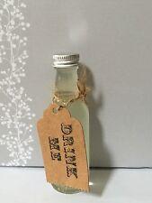 40 botellas vacías de vidrio espíritu en miniatura 50ml Aluminio Tapón de Rosca