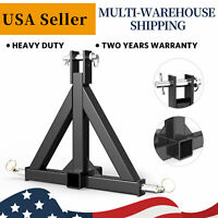 3 Point Receiver Hitch Adapter Tow Drawbar For Category 1 Tractor Thicken Steel