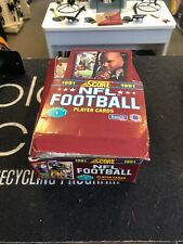 1991 Score Series 1 NFL Football Cards With Display Box And Original Packs