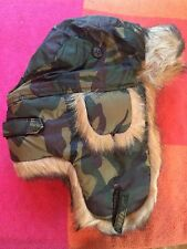 POLO RALPH LAUREN CAMOUFLAGE PRL CAMO ARMY TRAPPER HAT RETAIL  175.00 SIZE  S M 7156ac12490
