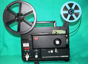 ELMO ST-600 M+O  SUPER 8mm, MAG/OPT, 2 TRACK SOUND MOVIE PROJECTOR,  SERVICED A1