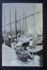 On the Pier WHITE LAKE YACHT CLUB, Whitehall, Michigan, RPPC postcard 1948