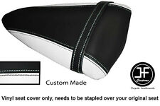 WHITE AND BLACK VINYL CUSTOM FOR KAWASAKI NINJA ZX6R 07-08 REAR SEAT COVER ONLY