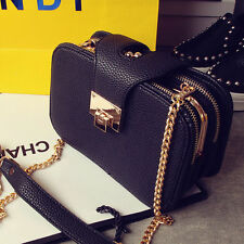 Woman Bag luxury PU Leather Handbag Chain crossbody Shoulder Square small bags