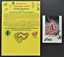 HOLMES KELLY GT BRITAIN 800m & 1500m OLYMPIC GOLD MEDALS 2004 SIGNED PROMOPHOTO