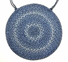 homespice decor denim braided jute 15 round chair pad - Homespice Decor