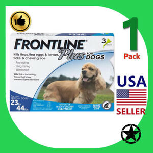1 Pack FRONTLINE Plus Flea and Tick Treatment for Large Dogs Up to 45 to 88 lbs.